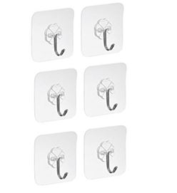 Display Hooks -  Reusable Adhesive Hooks - Set of 6 or 12