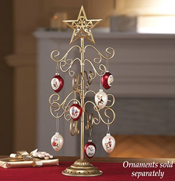 "Ornament Display Tree - Gold Scroll 20"" Tree"