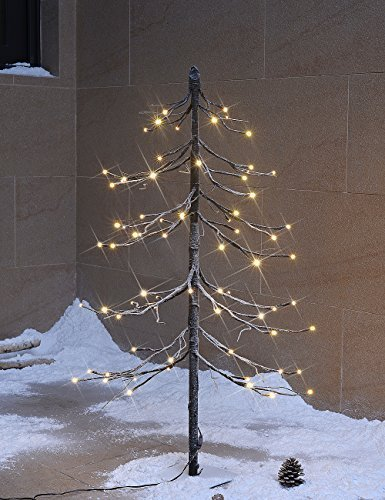 Display Tree - Lighted Snowy Pagoda Fir Tree 3 Foot