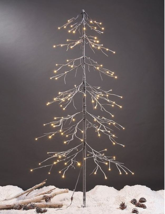 Display Tree - Lighted Snowy Pagoda Fir Tree 6 Foot