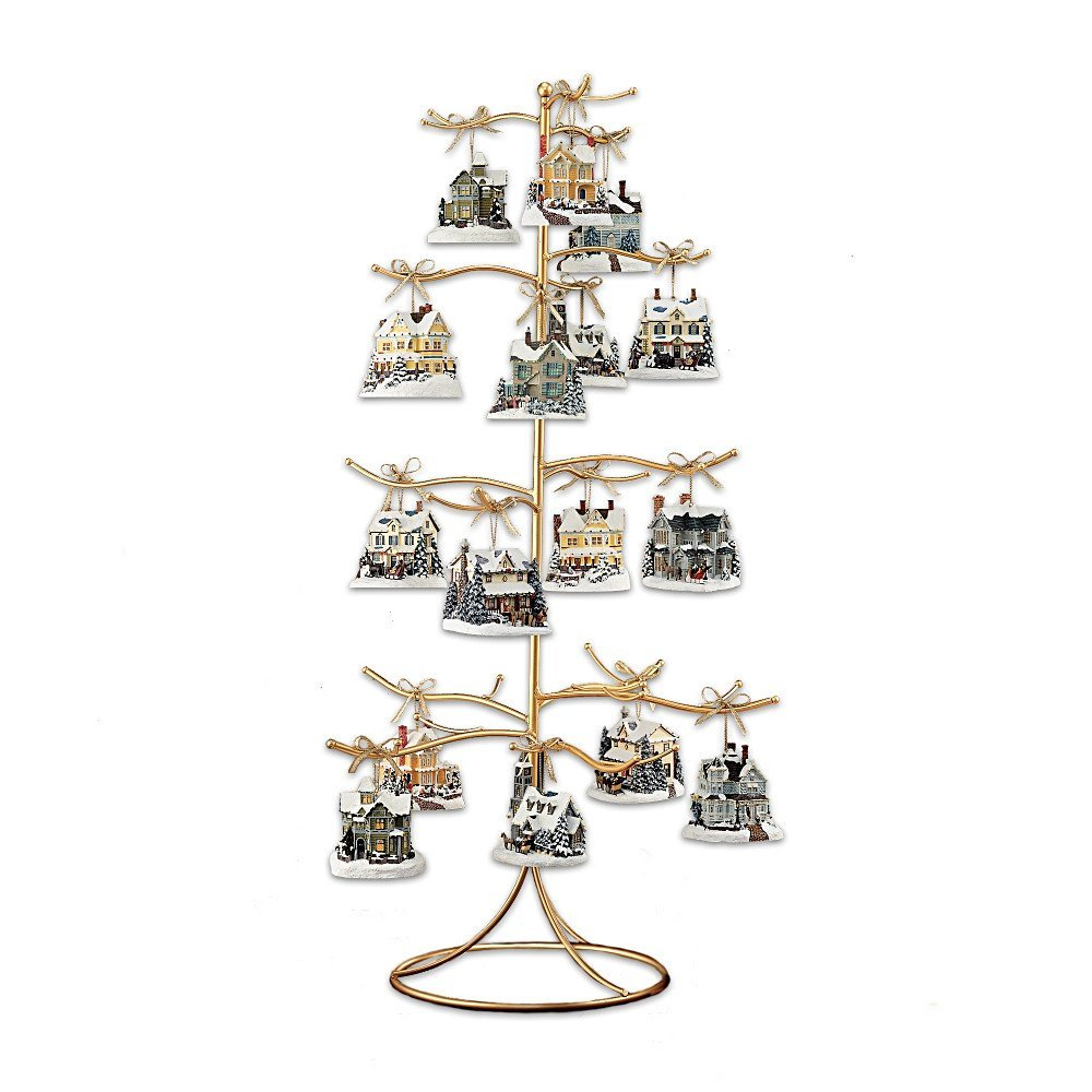 Ornament Display Tree - Gold or Silver Wire