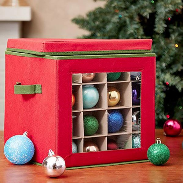 Ornament Storage Container - 64 Ornament with Window