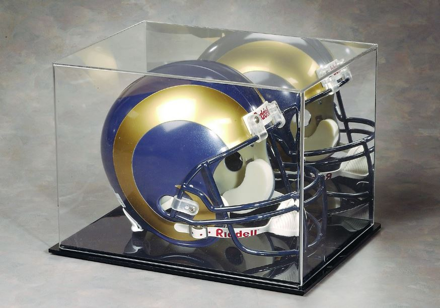Football Helmet Display Case - Acrylic with Mirror Back