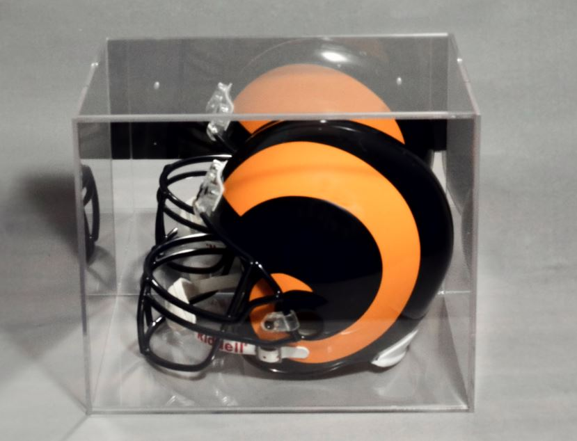 Helmet Display Case - Wall Mount Acrylic with Mirror Back