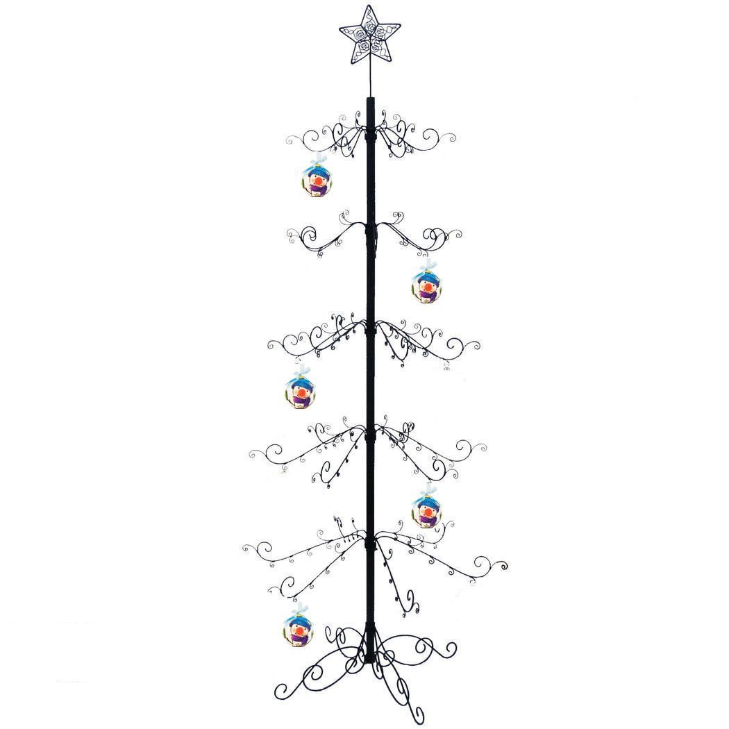 Ornament Trees - Black Metal Scroll -  84""