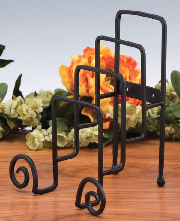 Plate Stand - Iron Four Tiered Plate Holder