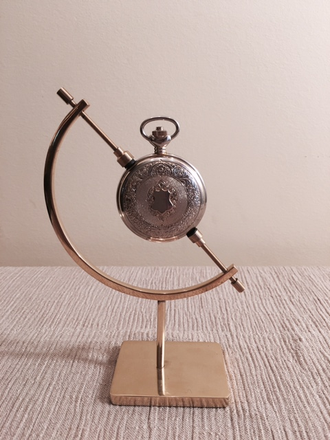 Pocket Watch Stand - Brass Caliper Display
