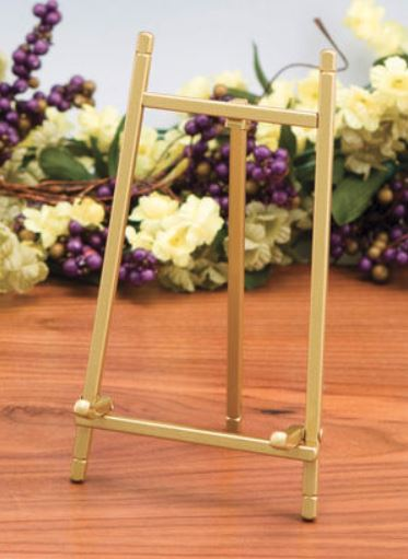 Plate Easels - Matte Brass Stands - Set of 6