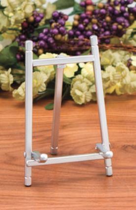 Plate Easels - Matte Silver Stands - Set of 6