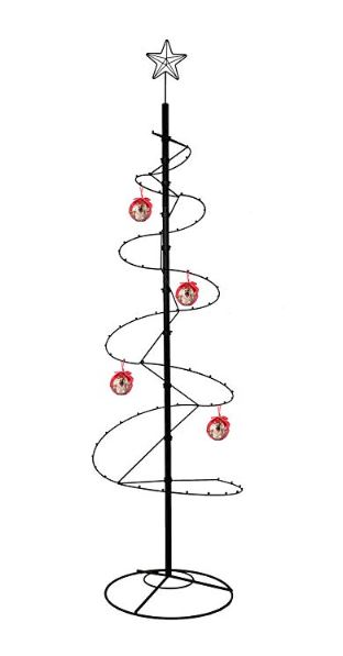 """Small Hanging Ornament Spiral Stand Black 10/"""""""