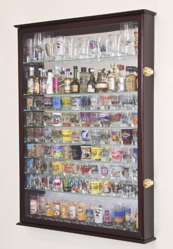 Shotglass Collector Case - Mirrored Back Extra Large