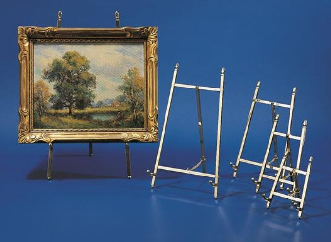 Plate & Platter Easels - Brass Display Stands