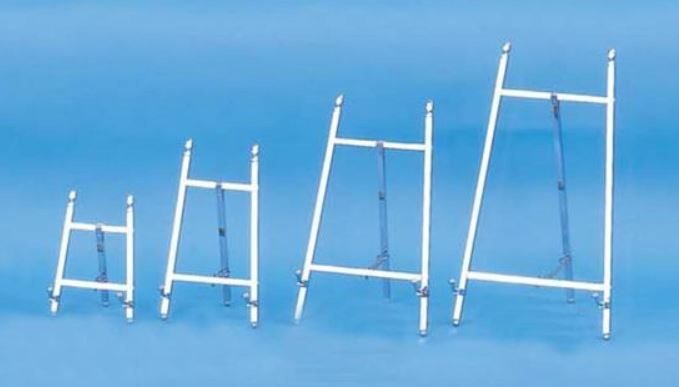 Plate Easels - Chrome Finish