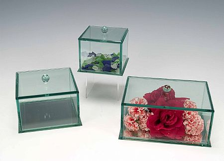 Display Cases Glass Beveled Jewelry Boxes Jewelry Display Accessories