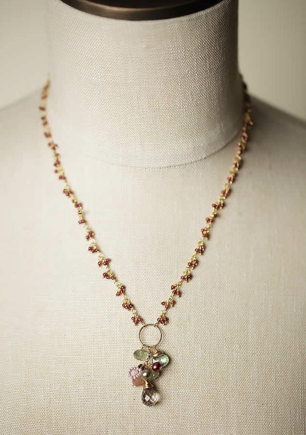Anne Vaughan Designs - Gumdrop Fancy Garnet Gemstone Necklace