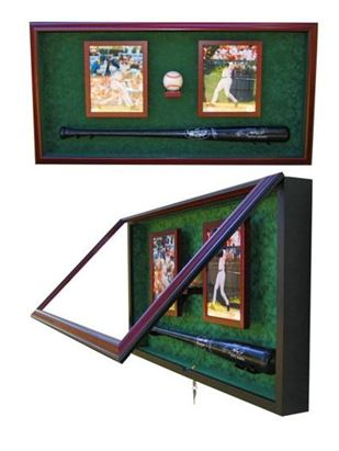 Custom Display Cases - Baseball Bat - Ball and Photos