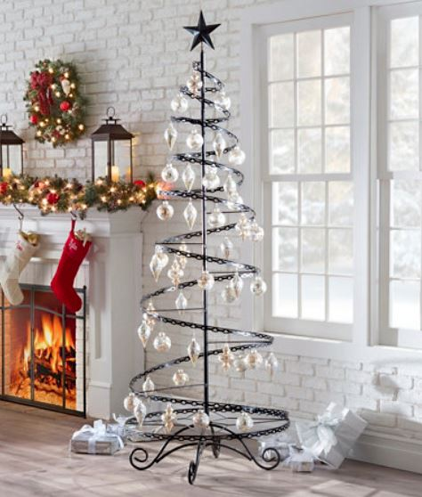 Ornament Trees Large Spiral Wire Ornament Tree Ornament