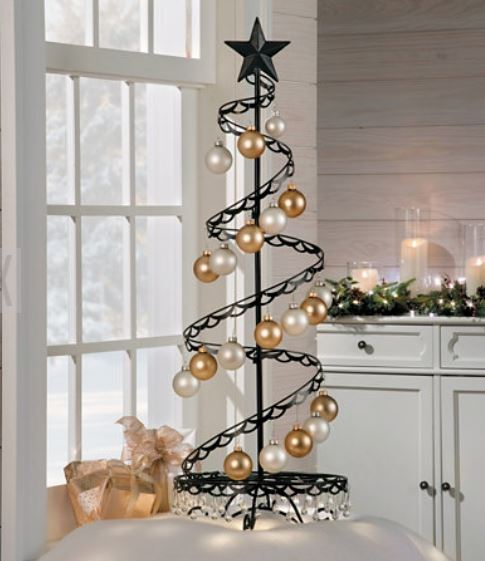 ornament trees small spiral wire ornament tree - Metal Christmas Tree Ornament Display