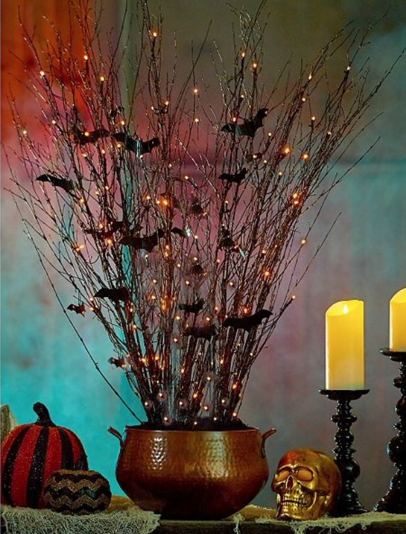 Lighted Display Branches - Spooky Halloween