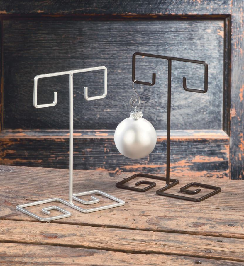 Ornament Stands - Double Swirl Ornament Display Set of 6