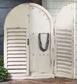 Jewelry Display - Shabby Chic Wall Hanging Case