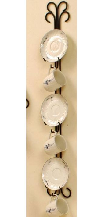 Cup and Saucer Hanger - Curly Q Triple