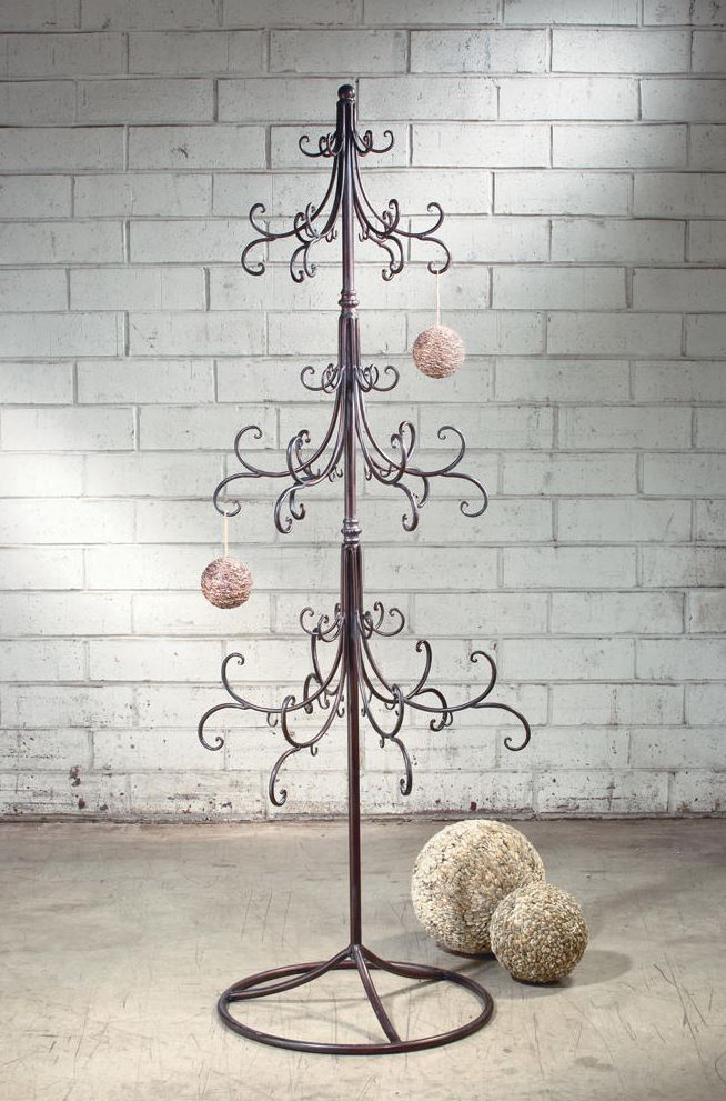 ornament display tree extra large scroll design - Metal Christmas Tree Ornament Display