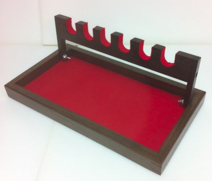 Hand Gun Display Rack - 6 Place - Oak or Walnut