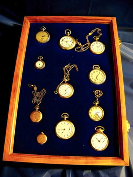 "Pocket Watch Display Case - 12"" x 18"""