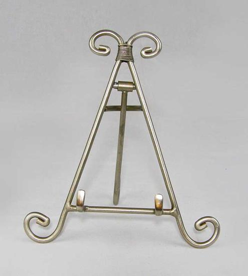 Plate Easel - Pewter Stand - Set of 4