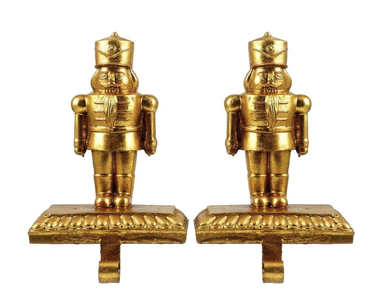 Stocking Hangers - Gold Nutcracker - Set of 2
