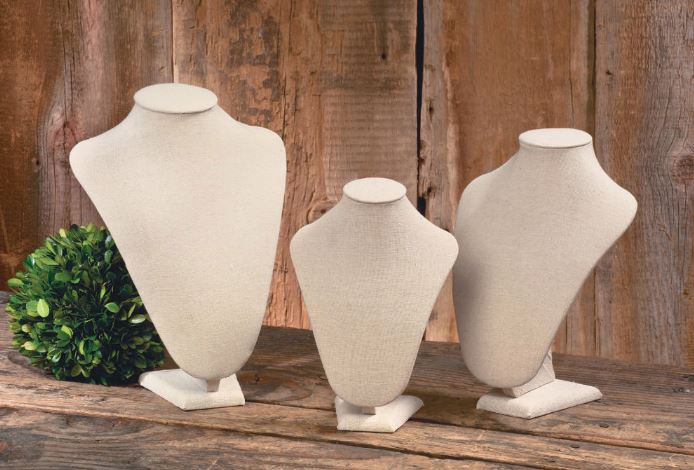 Neck Forms - Cream Linen Set of 3