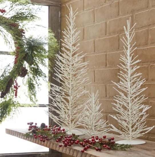 Display Trees- White Metal Trio