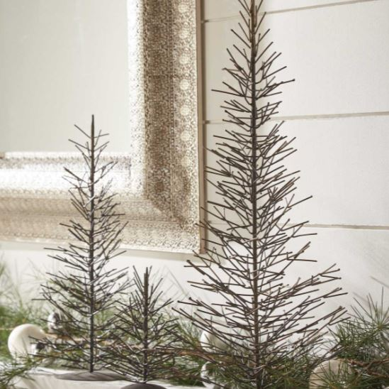 Display Trees- Natural Metal Trio