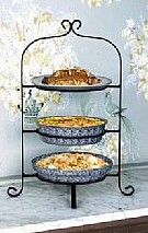 Wrought Iron 3 Tier Pie and Plate Rack