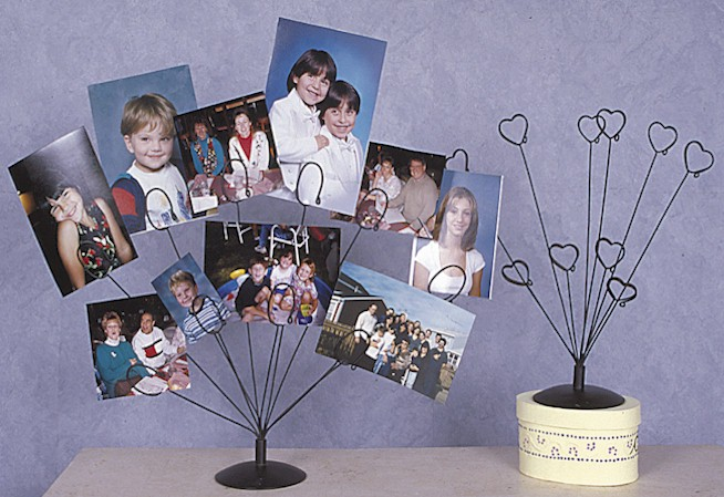 Photo Holders - 10 Clasp Heart - Set of 6