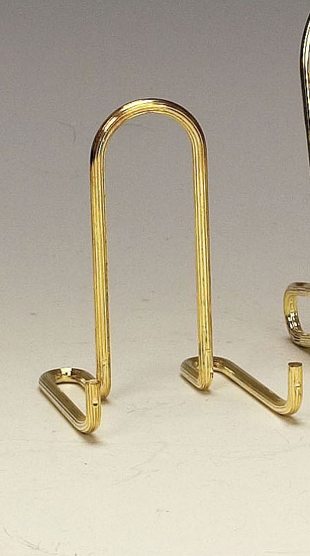 Plate Stands - Brass Easels - Set of 6