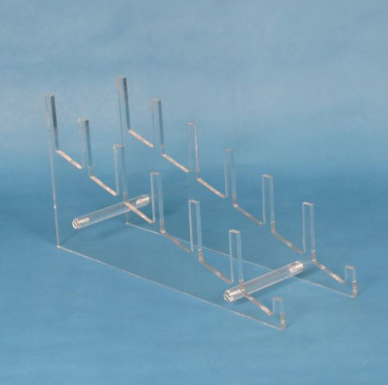 Plate Stand - Acrylic Six Tier Display, Multiple Plate Display Stands