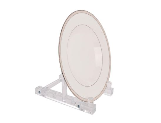 Acrylic Plate Stand - Adjustable Depth