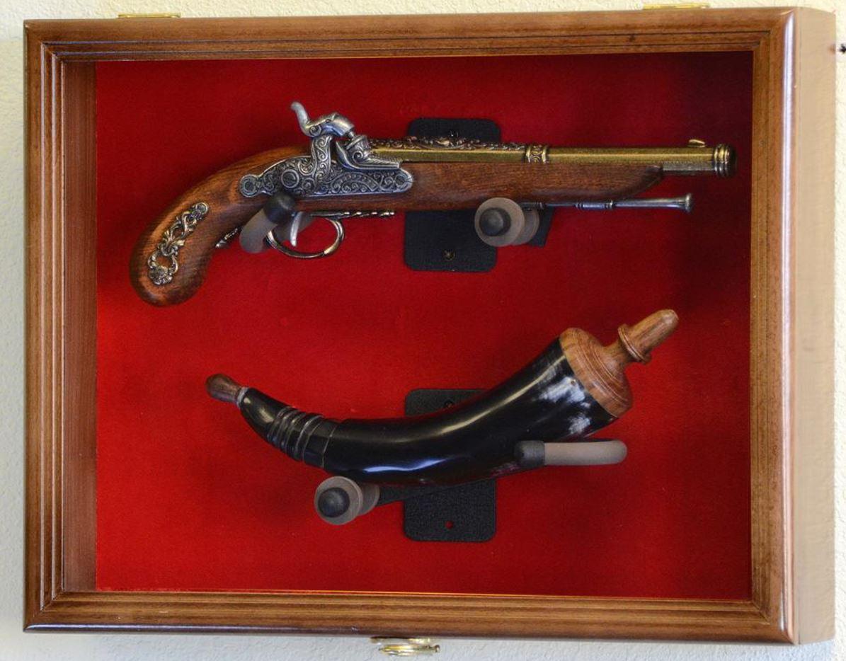 Gun Display Case   Antique Pistol Display