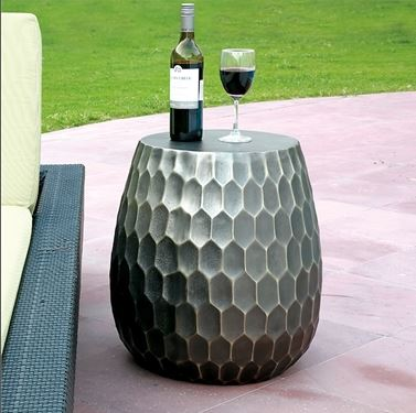 Accent Table - Metal Honeycomb Pattern