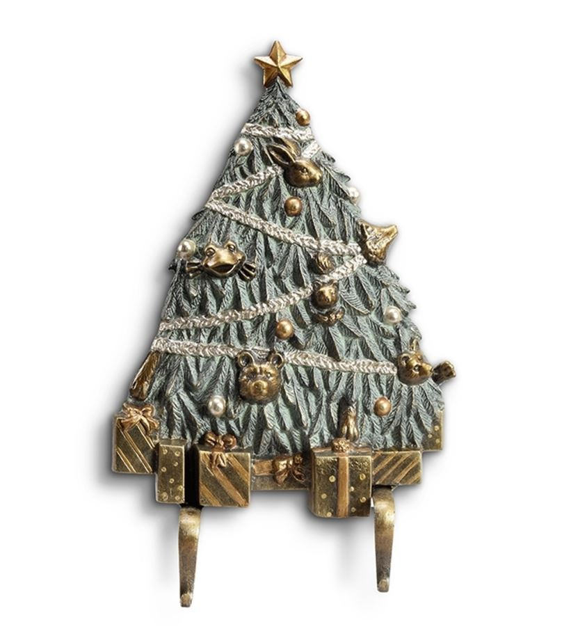 Stocking Holder - Christmas Tree Wall Hooks - Set of 2