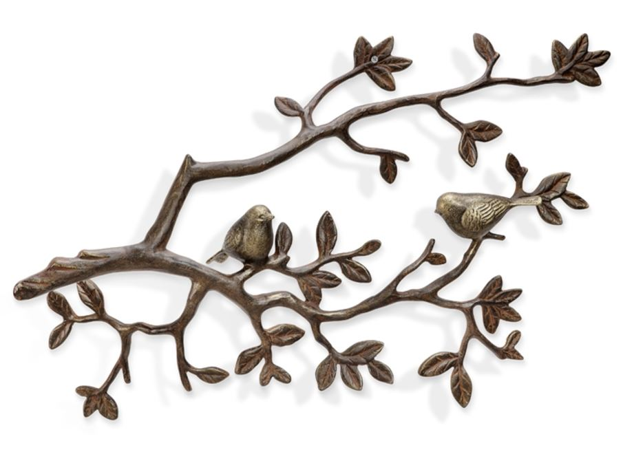 Wall Plaque - Lovebirds on a Branch