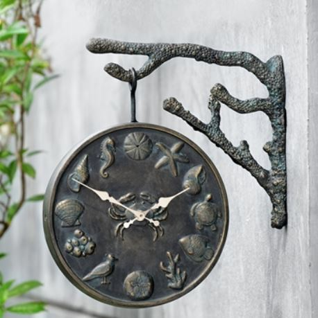 Garden Clock & Thermometer - Under the Sea