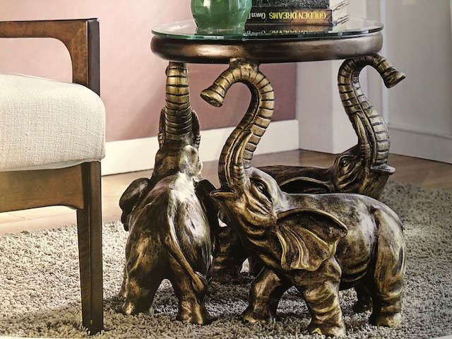 Accent Side Table - Elephant Trio