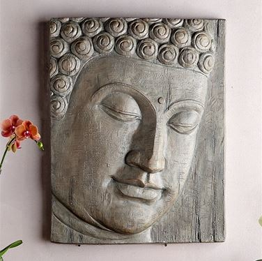 Wall Hanging -Buddha Head - Set of Two