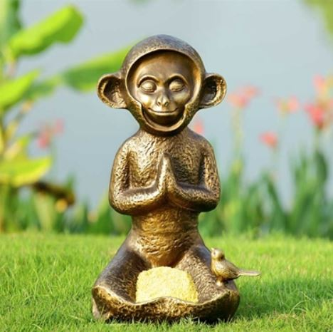 Bird Feeder - Meditating Monkey