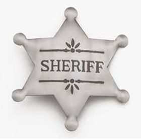 Sheriff Badge - Western Style - Set of 3