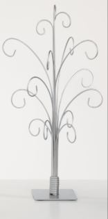 Ornament Trees - Silver Metal Ornament Stands - Set of 2