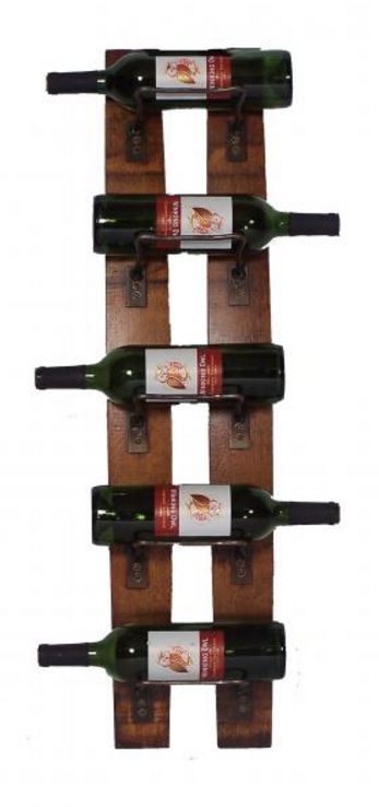 Wine Rack - Five Bottle Wall Rack
